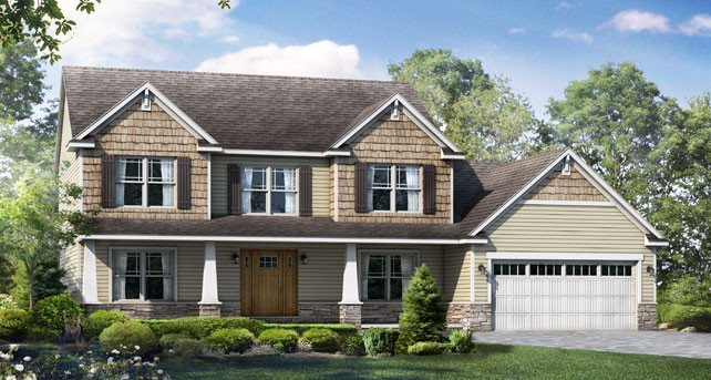 Hartford ii at wayne homes newark build on your lot in for Home builders in ohio on your lot