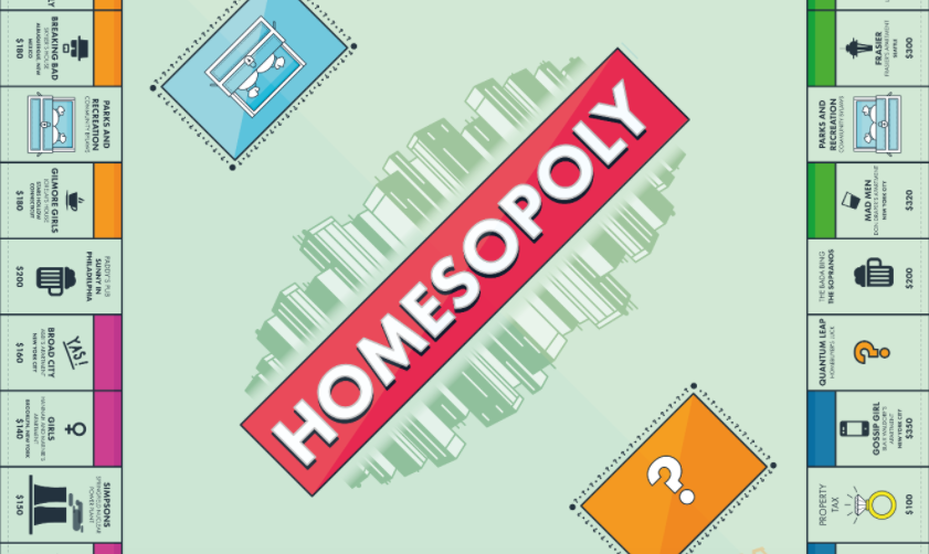 Play Homesopoly the game of TV Homes at Homes.com