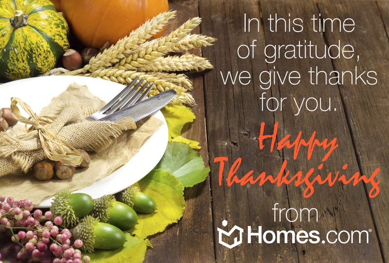 Homes.com Thanksgiving Wish
