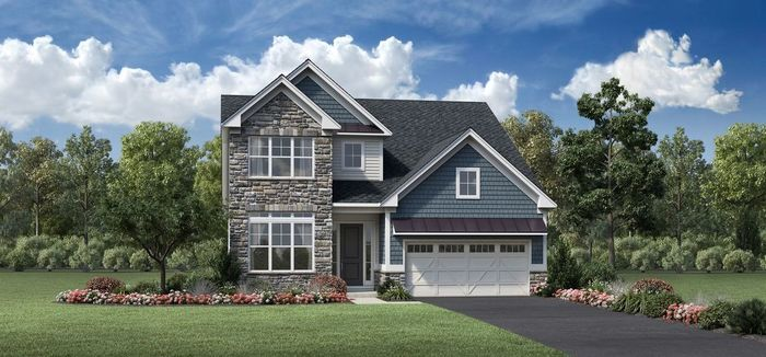 Ready To Build Home In Regency at South Whitehall - Villas Collection Community