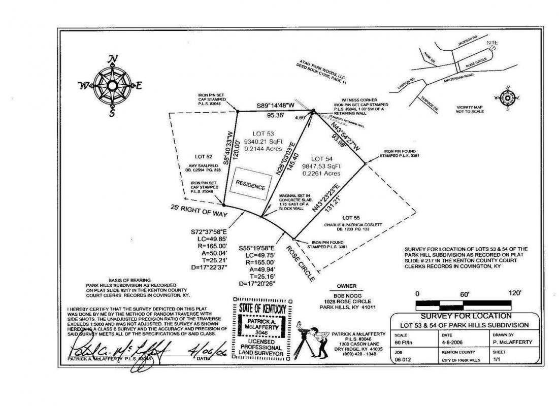 1028 ROSE CIRCLE # LOT 54 Park Hills KY 41011 id-1740757 homes for sale