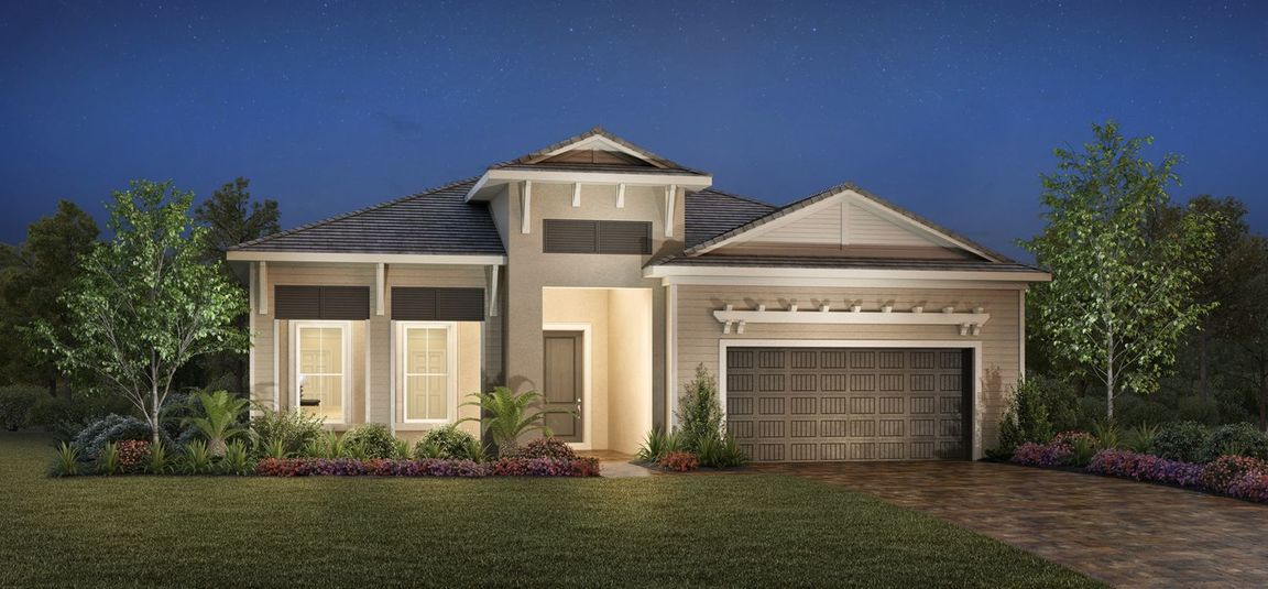 Ready To Build Home In Azure at Hacienda Lakes - Heritage Collection Community