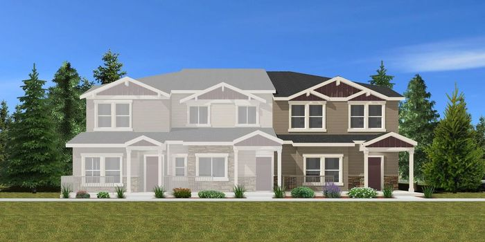 Ready To Build Home In The Townes at Polaris Peak Community