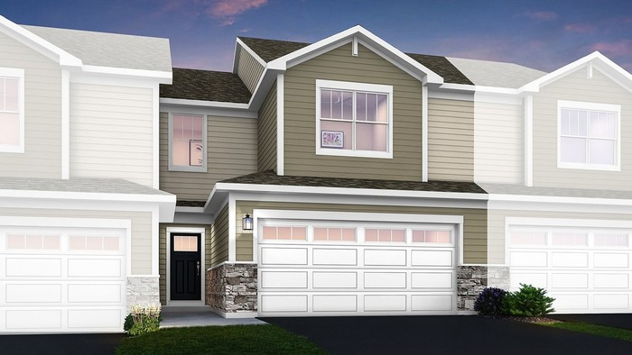 Ready To Build Home In Crossings of Mundelein - Traditional Townhomes Community