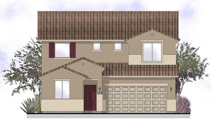 Ready To Build Home In Olive Grove Canyon Series Community