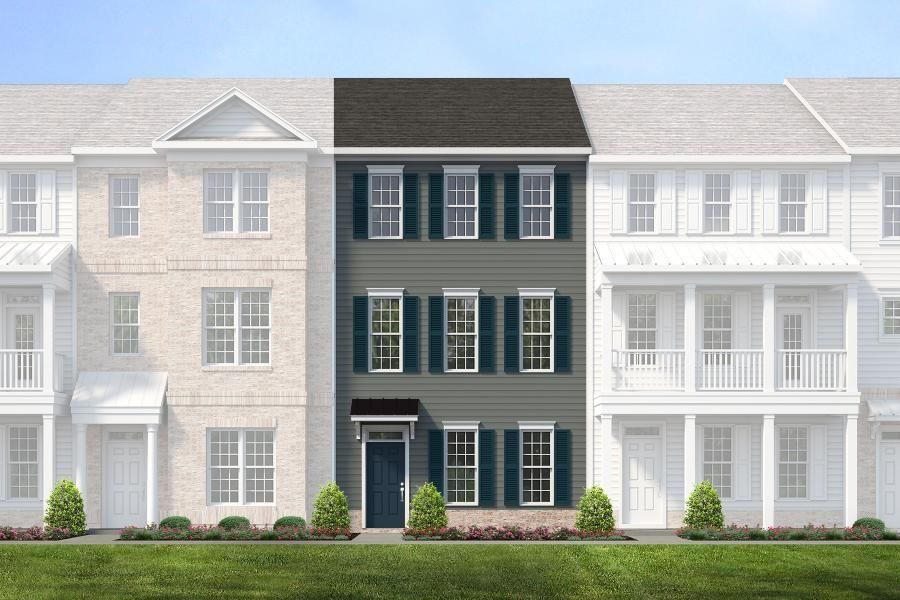 Ready To Build Home In Cosby Village 3-Story Townhomes Community