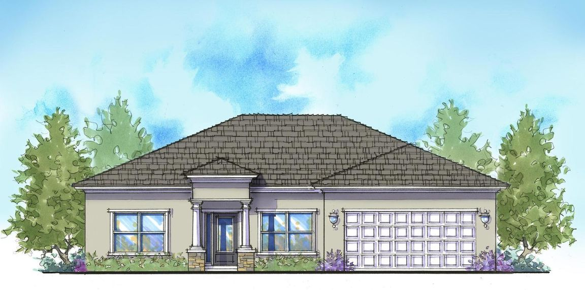Ready To Build Home In Palm Bay Community