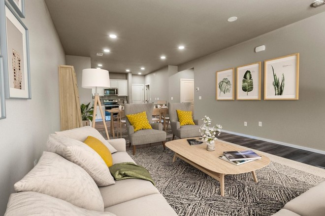 Move In Ready New Home In Hartford Homes at Harvest Village Townhomes Community