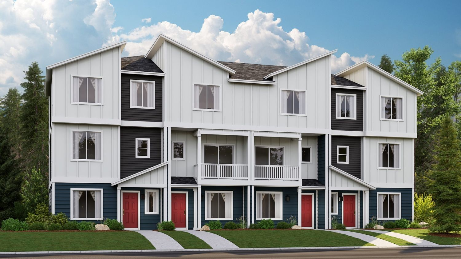 Ready To Build Home In Ten Trails - Village Green Townhomes Community