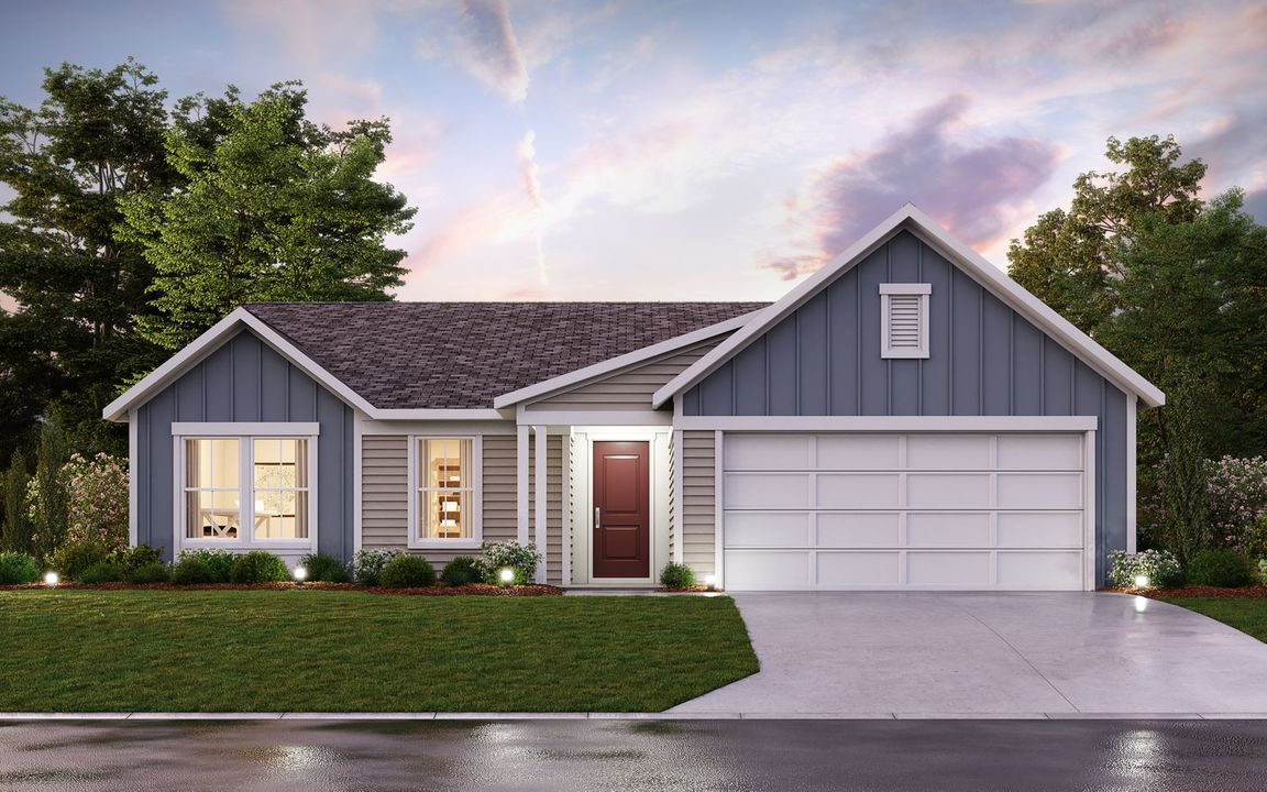 Ready To Build Home In Meadows of Brookville Community