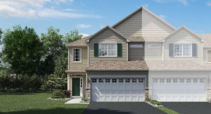 Move In Ready New Home In Prairie Commons - Traditional Townhomes Community