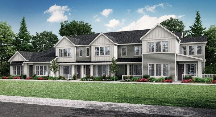 Move In Ready New Home In Green Gables Townhomes - The Lakeside Collection Community
