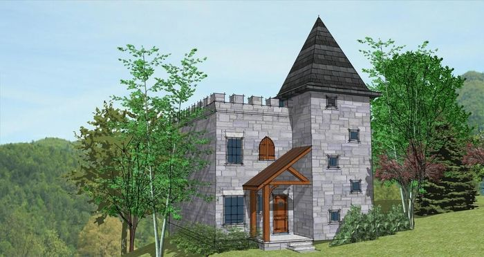 Residential House With Fireplace