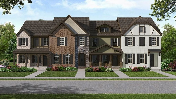 Move In Ready New Home In Kensington Downs Townhomes Community