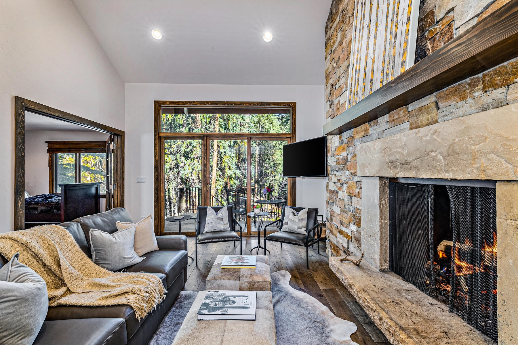Private Multi-Family Home With Fireplace